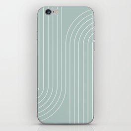 Minimal Line Curvature - Sage iPhone Skin