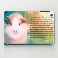guinea pig iPad Cases featuring A Guinea Pig's Love by Sarah Sangelus