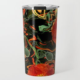 Poppies with abstract Travel Mug