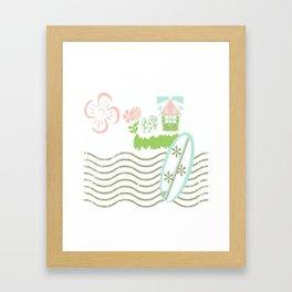 Surfing waves - petal beach Framed Art Print