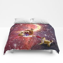 Playing on the Moon 2 Comforters