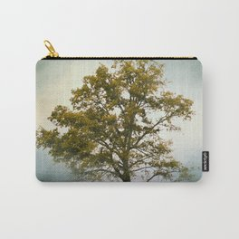 Bleached Sage Green Cotton Field Tree - Landscape  Carry-All Pouch