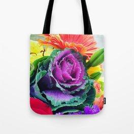 Kale Flowers Tote Bag