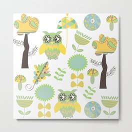 Cute owls Metal Print