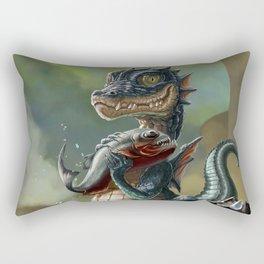 Zirquikz catches its first prey Rectangular Pillow