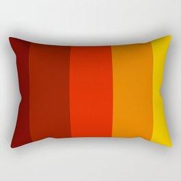 Multicolor Retro Strips Rectangular Pillow
