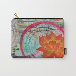 Orange Lotus Carry-All Pouch