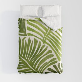 Summer Fern / Simple Modern Watercolor Duvet Cover