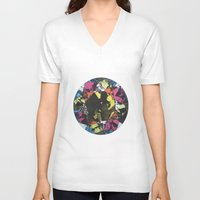 gem V-neck T-shirts featuring Inner Gem by Catrina Morbidelli