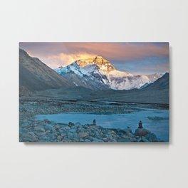 Sunset on Everest Metal Print