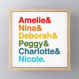 Female Djs  Queens. Framed Mini Art Print