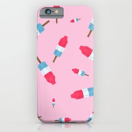 Popsicles - Retro Pattern - (pink background) iPhone Case