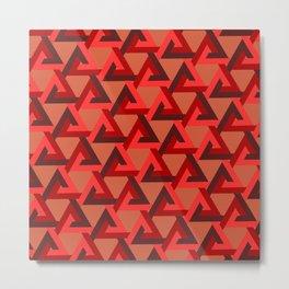 Linked Triangles Metal Print