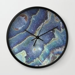 Rippled blue abalone Wall Clock