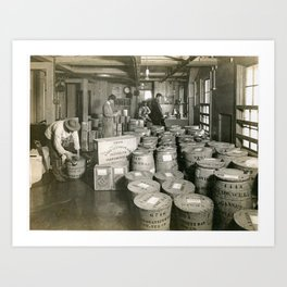 Narragansett Bay Oyster Company, Providence, Rhode Island Art Print