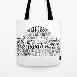 Hand Lettered Jefferson Memorial Tote Bag