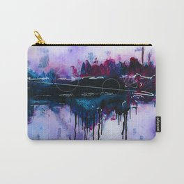 Dawn, pink and fushia black and blue acrylic abstract artwork Carry-All Pouch