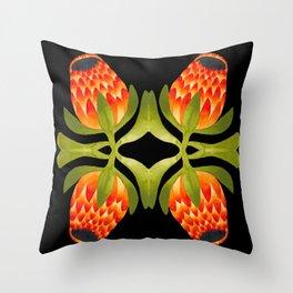 Floral symmetry 1. Throw Pillow