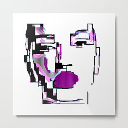Android Pixelated Metal Print