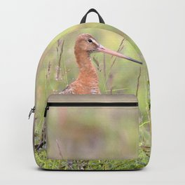 Watercolor Bird, Godwit 03, Akureyri, Iceland Backpack