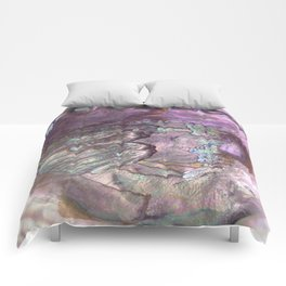 Shimmery Lavender Abalone Mother of Pearl Comforters