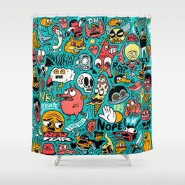 2019 New Year Pattern Shower Curtain