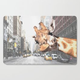 Selfie Giraffe in New York Cutting Board