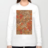 maps Long Sleeve T-shirts featuring Fantasy City Maps 3 by MehrFarbeimLeben