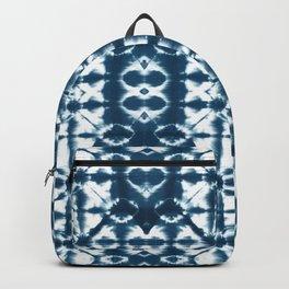 Tie dye, Shibori, indigo, chevron print Backpack