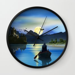 The mystic lake Wall Clock