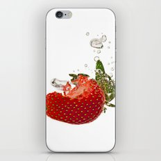 Strawberry splash iPhone & iPod Skin