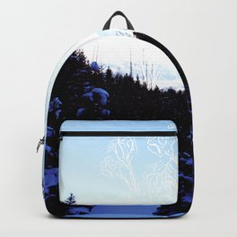 Ice flowers Backpack
