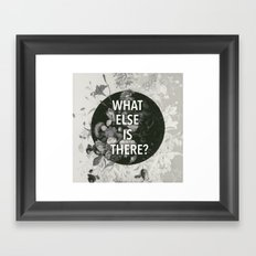 And the flashlights, nightmares And sudden explosions Framed Art Print