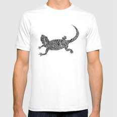 lizard Mens Fitted Tee White SMALL