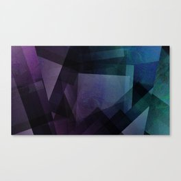 Vaporwave - Digital Geometric Texture Canvas Print