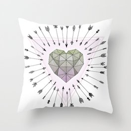 Young & Unafraid - Pink Throw Pillow