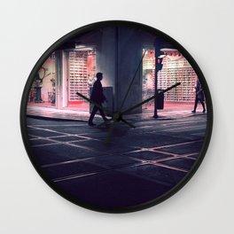 Meeting point - Lisbon street shot in a late winter night Wall Clock