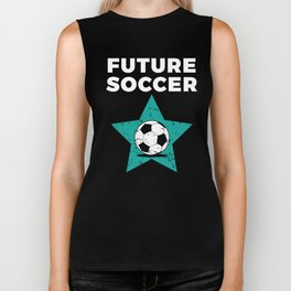 Kids Soccer Gift for Young Training Futbol Players Football Fans Biker Tank