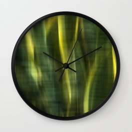 Green Palm Leaves Impression IV Wall Clock