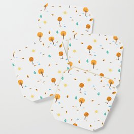 Scattered Trees. Tree landscape seamless background Coaster