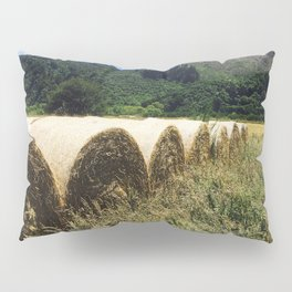 Hay Bales In The Field Pillow Sham