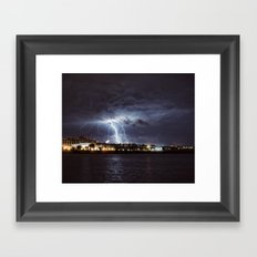 Bolts in the Night Framed Art Print