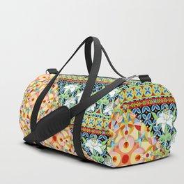 Tangerine Confetti Lilies Duffle Bag