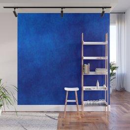 Misty Deep Blue Wall Mural