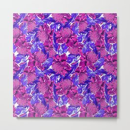 Violet proteas Metal Print
