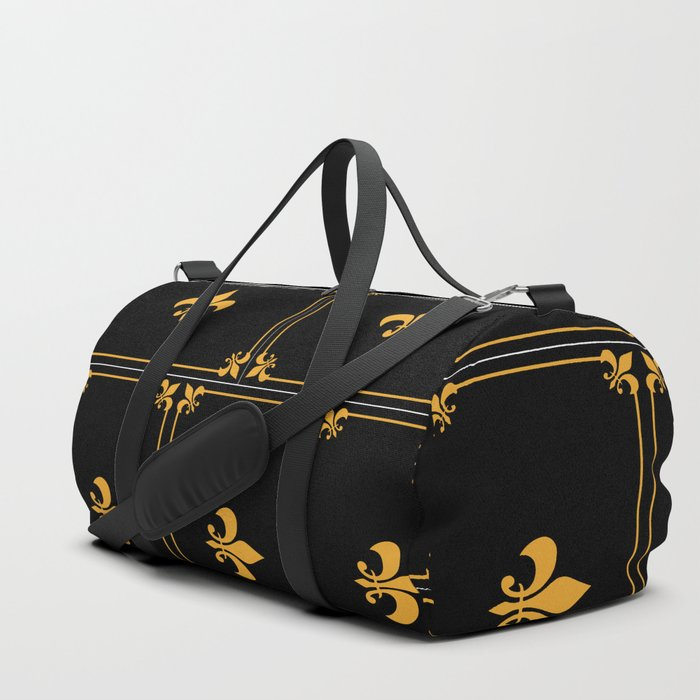 Gold And Black Duffle Bag