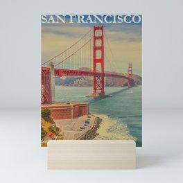 Vintage Commercial Travel Poster Colorful Vintage Art San Francisco Mini Art Print