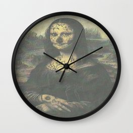 Mona Crack Wall Clock