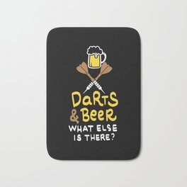 Darts & Beer. What else is there? - Gift Bath Mat