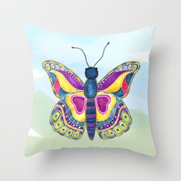 Butterfly III on a Summer Day Throw Pillow